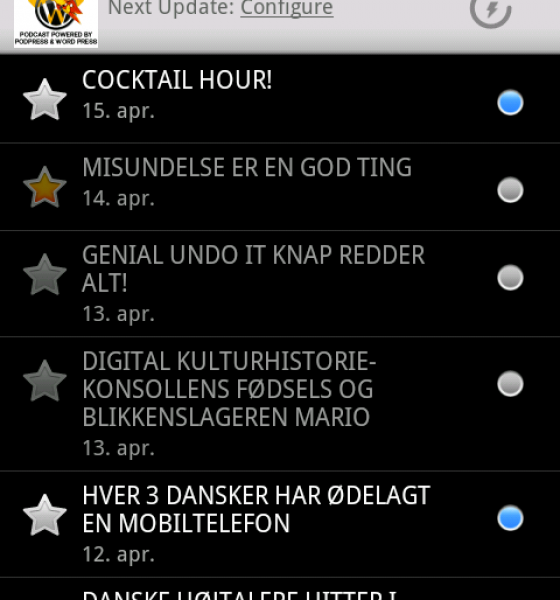TRE PODCAST APPS TIL DIN ANDROID MOBIL