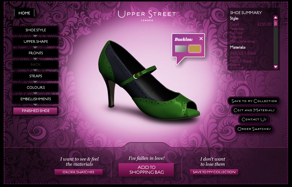 Hvis du har fået smag for selv at lege designer kan du også lave og få  tilsendt din egen sko på Upperstreet.com 719cfb1c9db13