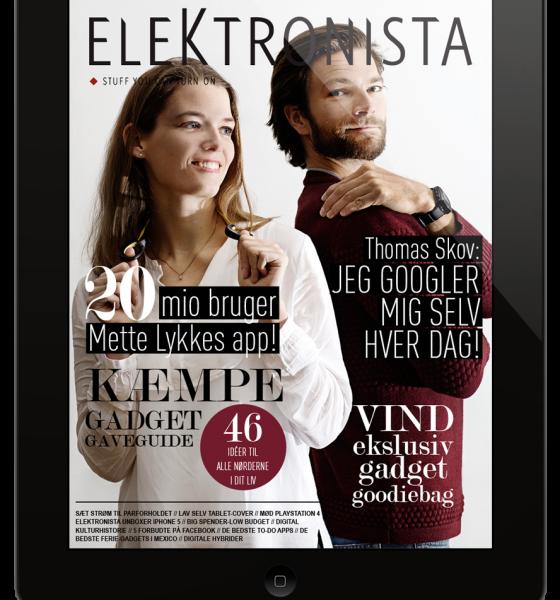 Verdenspremiere- Elektronista klar med eksklusivt (gratis) iPad magasin