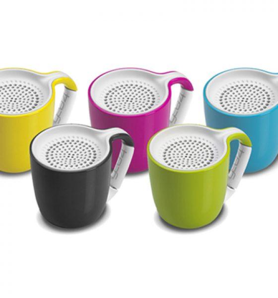 Kaffekoppen spiller trådløs musik