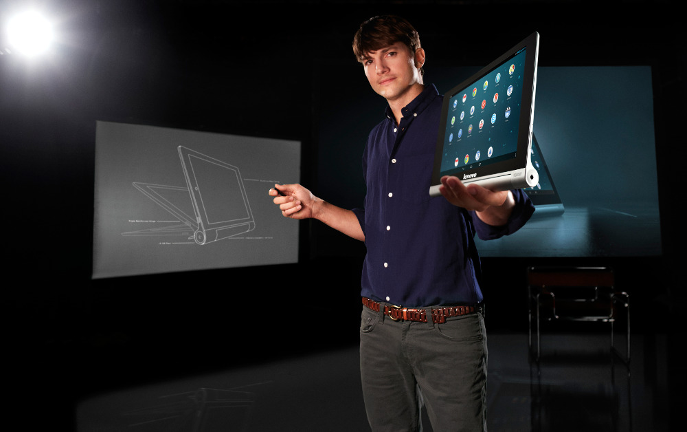 Ashton-Kutcher-Lenovo-Yoga-Tablet1
