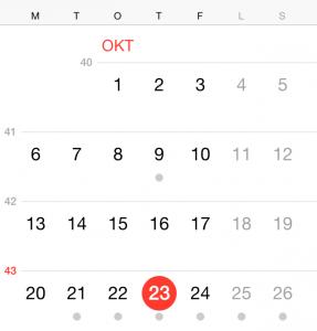 ios 8 ugenummer kalender