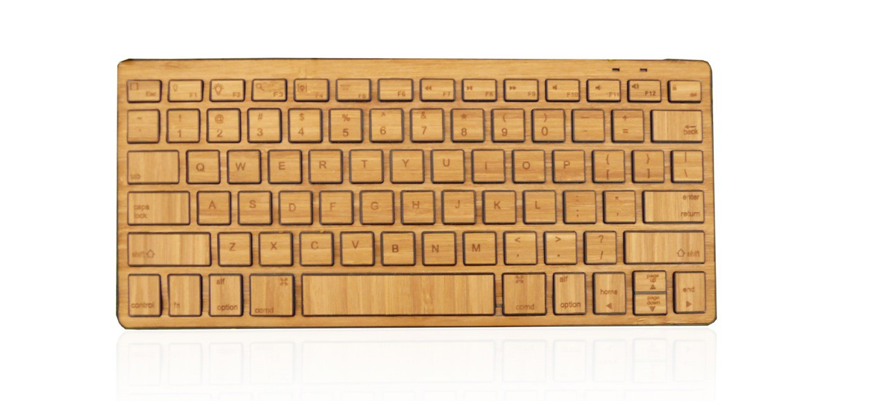 Impecca Bluetooth  Bamboo Keyboard