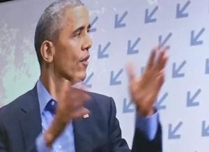 Obama var i byen til en interaktiv snak