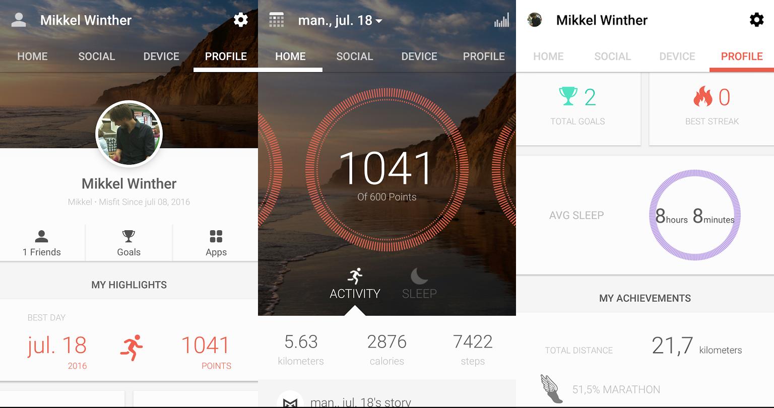 Misfit-app