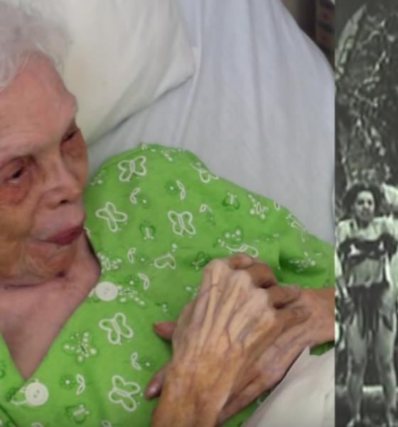 102 år gammel dame ser sig selv danse som ung pige