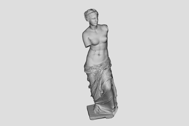 Digital afstøbning af Afrodite fra Melos. Venus fra Milo Foto: Magnus Kaslov/SMK