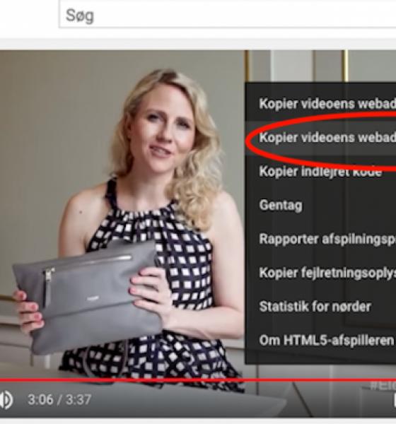 Sådan linker du til den fede del af YouTube-videoen
