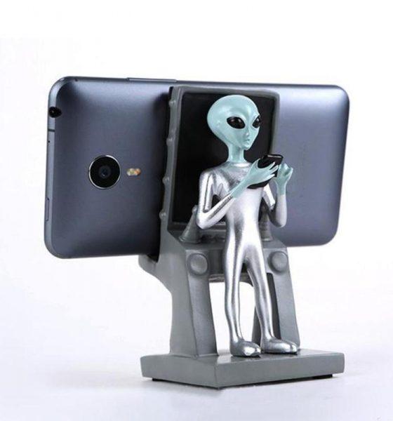 Alien swag- smartphone-holder fra det ydre rum