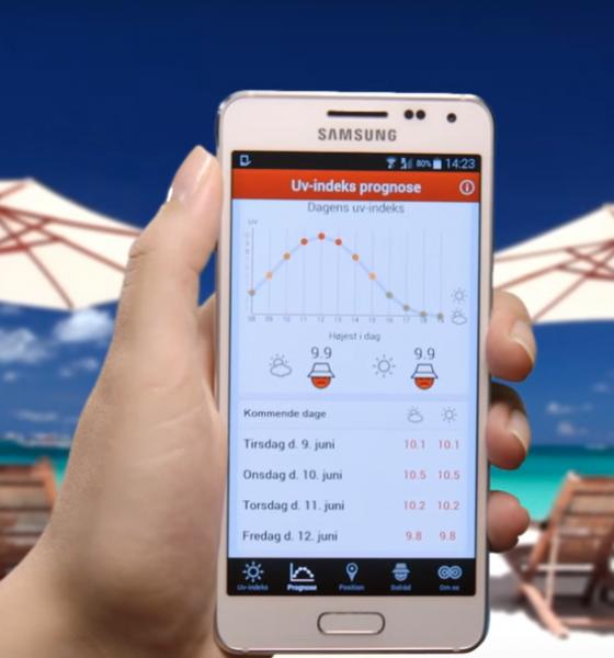 App fortæller hvornår du skal undgå sensommerens solstråler