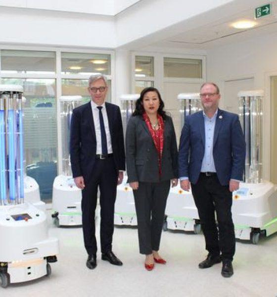 Danske robotter til kamp mod Corona virus